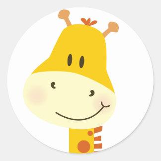 Giraffe Classic Round Sticker