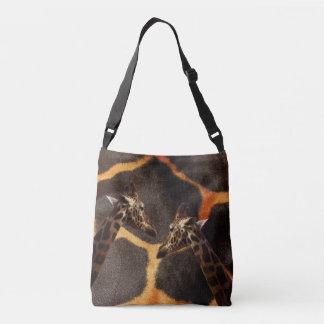 Giraffe Colours, Full Print Crossbody  Bag. Crossbody Bag