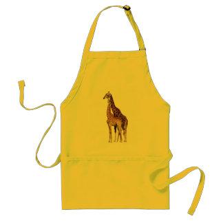 Giraffe Couple Standard Apron