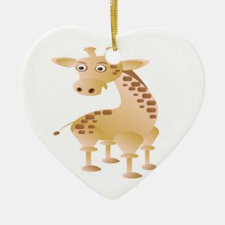 Giraffe ,cute animal ceramic heart decoration