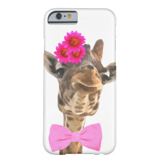 Giraffe cute funny jungle zoo animal watercolor barely there iPhone 6 case