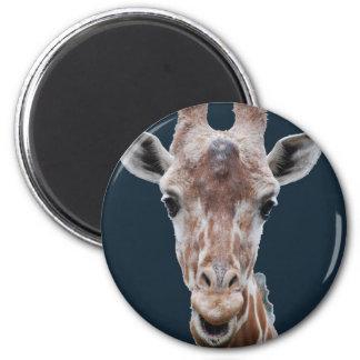 giraffe cutout navy magnet