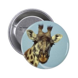 Giraffe Design  Pin 2 Inch Round Button
