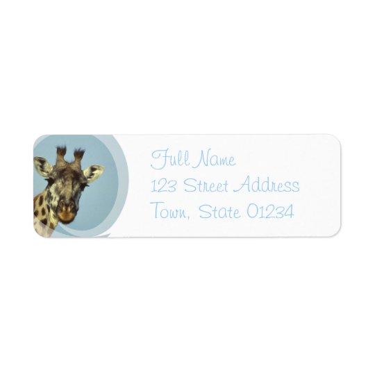 Giraffe Design Return Address Mailing Label Return Address Label