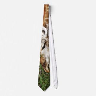 Giraffe designer clothing tie