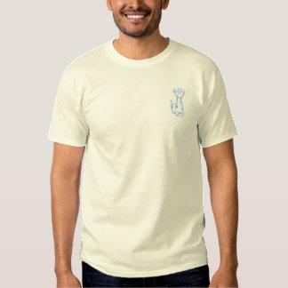 Giraffe Embroidered T-Shirt