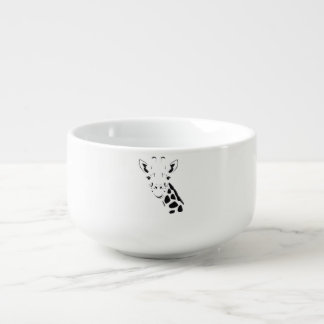 Giraffe Face Silhouette Soup Mug