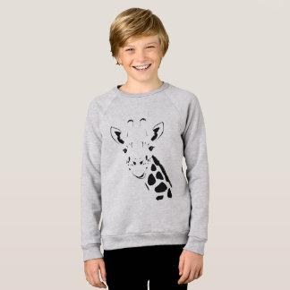 Giraffe Face Silhouette Sweatshirt