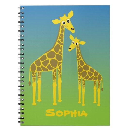 Giraffe family notebook