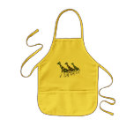 Giraffe Family Outing Toddler Arpon Kids Apron