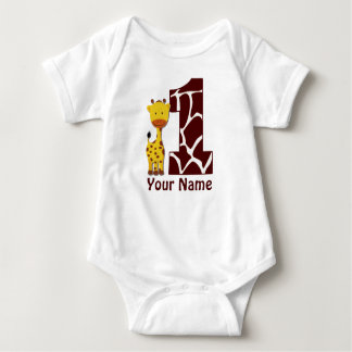 Giraffe First BIrthday Shirt