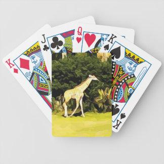Giraffe from Safari Bicycle Playing Cards