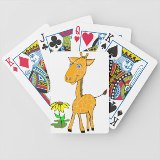 giraffe fun day bicycle playing cards