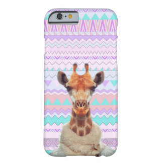 Giraffe Funny with Pastel Aztec Tribal Barely There iPhone 6 Case