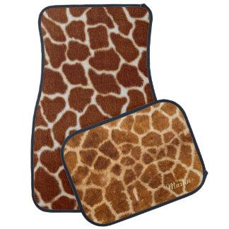 Giraffe Fur Custom Car Mats Full Set