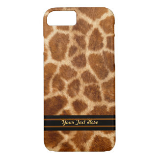 Giraffe Fur Pattern - Barely There - Personalize iPhone 7 Case