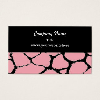 Giraffe Fur Pattern Business Card