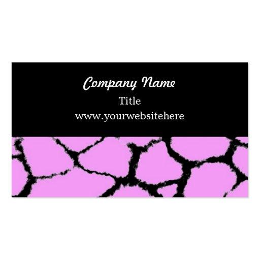 Giraffe Fur Pattern Business Card