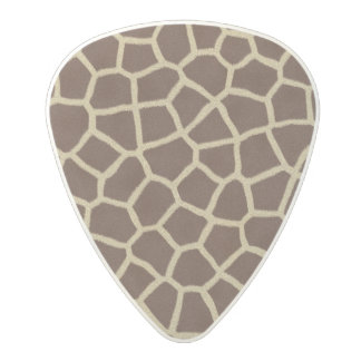 Giraffe Fur Print background Polycarbonate Guitar Pick