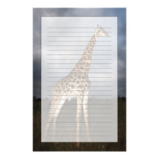 Giraffe (Giraffa camelopardalis) Personalized Stationery