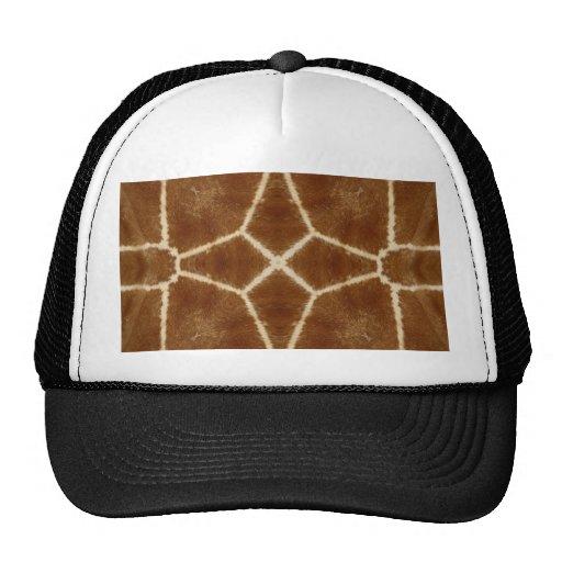 Giraffe Hide Kaleidoscope Pattern Trucker Hat