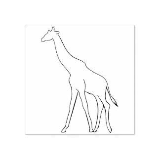 giraffe illustration art stamp