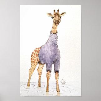 Giraffe In a Turtleneck Poster