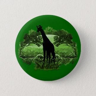 Giraffe in Nature 6 Cm Round Badge