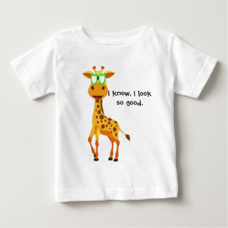 giraffe in style with glasses for baby baby T-Shirt