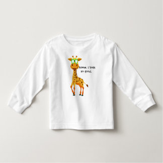 giraffe in style with glasses for her toddler T-Shirt