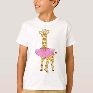 Giraffe in Tutu T-Shirt