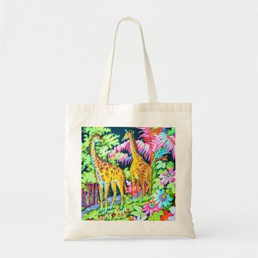 Giraffe Jungle Budget BagTote Canvas Bag