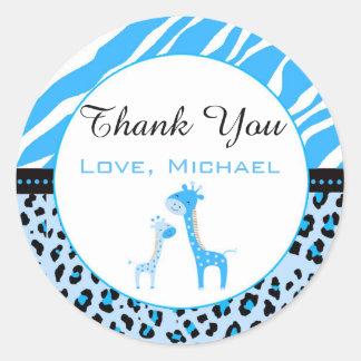 Giraffe Jungle Gift Favor Label Sticker