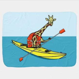 Giraffe Kayaking Baby Blanket