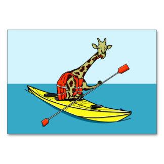 Giraffe Kayaking Card