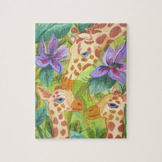 Giraffe Kisses (Kimberly Turnbull Art) Jigsaw Puzzle