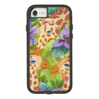 Giraffe Kisses, Mother and Babies Case-Mate Tough Extreme iPhone 8/7 Case