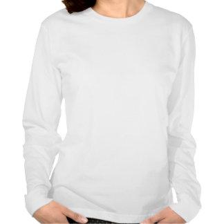 Giraffe Ladies Long Sleeve (Fitted) Tee Shirt