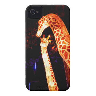 Giraffe light up night photography festival art iPhone 4 covers