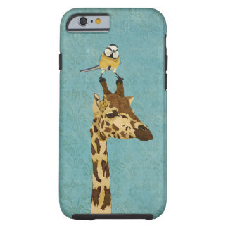 Giraffe & Little Bird Blue  iPhone 6 case