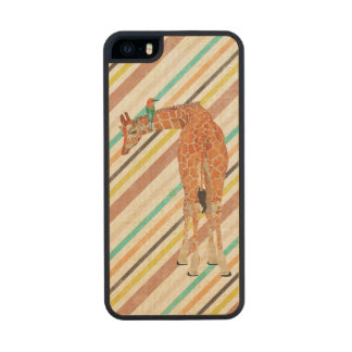 Giraffe & Little Bird Wooden Phone Case