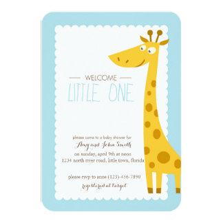 Giraffe Little One Baby Shower 9 Cm X 13 Cm Invitation Card