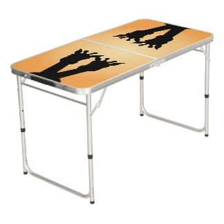 Giraffe Love Beer Pong Table