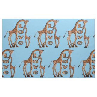 Giraffe Love fabric