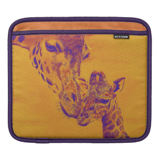 giraffe love i-pad iPad sleeves