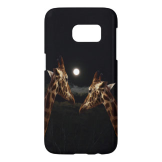 Giraffe Love In The Moonlight,