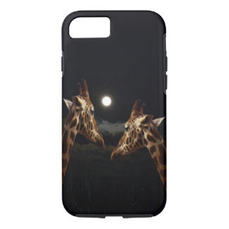 Giraffe Love In The Moonlight, iPhone 8/7 Case