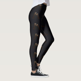 Giraffe Love In The Moonlight, Leggings