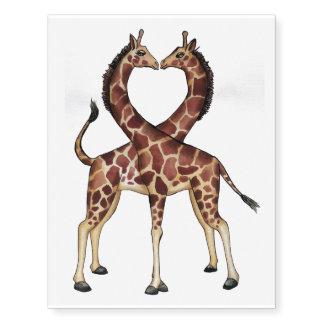 Giraffe Love temporary tattoo