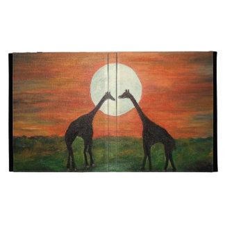 Giraffe LOVE!!! Under the moon! iPad Cases